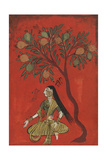 A Maiden Seated Beneath a Pomergranate Tree