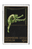 A High Jumper Germany 1916 Berlin Olympic Games Poster Stamp  Unused