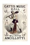 """Gatti's Music Hall  Lambeth """"Olinto Ancollotti""""  1881"""