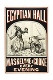 Maskelyne and Cooke at the Egyptian Hall  C 1880 Egyptian Hall Man Severing Another Man's Head