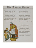 The Chestnut Woman a Woman Selling Chestnuts To Two Children Illustration From 'London Town'