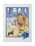 You Ought To Be Ashamed Of Yourself ! the The Cowardly Lion Being Rebuked by Dorothy