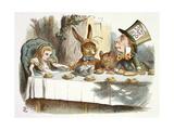 The Mad Hatter's Tea Party Giclée par John Teniel