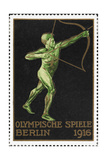 An Archer Germany 1916 Berlin Olympic Games Poster Stamp  Unused