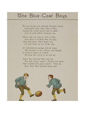 The Blue-coat Boys Two Boys Playing With a Ball Illustration From London Town'