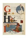 Alphabet Page: G  H and I: Goose Laid Golden Eggs  Humpty Dumpty  and Ink Used by Mother Goose