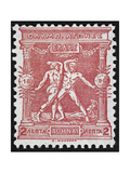Two Wrestlers Greece 1896 Olympic Games 2 Lepta  Unused