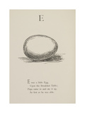 Egg Illustrations and Verses From Nonsense Alphabets Drawn and Written by Edward Lear