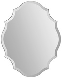 Emma All Glass Scalloped Mirror