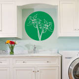Orchid Circle Light Green Wall Decal