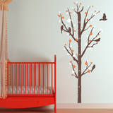 Cherry Blossom Measurement Tree Persimmon Wall Decal