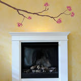 Dogwood Branch Pink Wall Decal