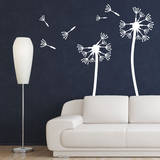 Dandelions  Medium White Wall Decal