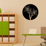 Orchid Circle Black Wall Decal