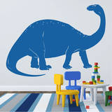 Brontosaurus Blue Wall Decal