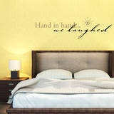 Hand in Hand…We laugh Black Wall Decal