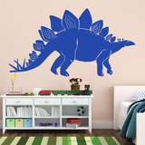 Stegosaurus Blue Wall Decal