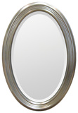 Magnolia Beveled Edge Silver Oval Mirror