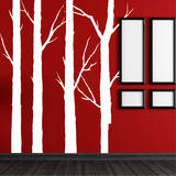 Forest Trees White Wall Decal