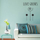 Love Grows Black Wall Decal