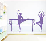 Bella Ballerina Lavender Wall Decal