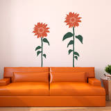 Sunflower Smiles Orange Wall Decal