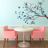 Watsonia Branch Blue Wall Decal