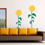 Sunflower Smiles Yellow Wall Decal