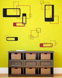 Retro Blocks Black Wall Decal