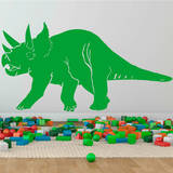 Triceratops Yellow Green Wall Decal