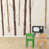 Aspen Woods Brown Wall Decal