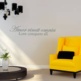 Love Conquers Quote Grey Wall Decal