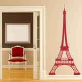 Eiffel Tower Red Wall Decal