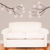 Amber Tree Branches Carnation Wall Decal