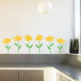 Happy Flowers Yellow Wall Decal