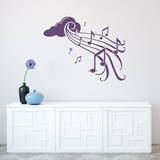 Notes in Flight Violet Wall Decal