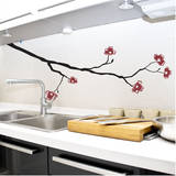 Dogwood Branch Red Wall Decal