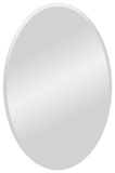 Yen All Glass Oval Mirror