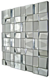 Quartz All Glass Panel Square Mirror