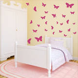 Butterfly Moments Pink Wall Decal
