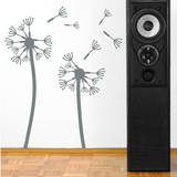Dandelions  Medium Grey Wall Decal