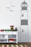 Find Your Way Home Lighthouse Grey Wall Decal