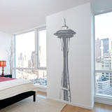 Space Needle Grey Wall Decal