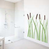 Cattails Brown Wall Decal