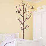 Cherry Blossom Measurement Tree Bubblegum Wall Decal
