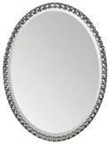 Rhiannon Crystal Silver Plate Oval Mirror