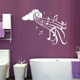 Notes in Flight White Wall Decal