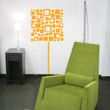 Square Lamp Yellow Wall Decal