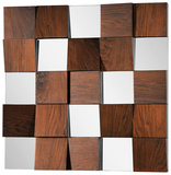 Westside Walnut Vaneer Panel Square Mirror
