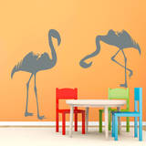Flamingos Grey Wall Decal